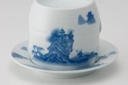 茶香炉−染付山水
